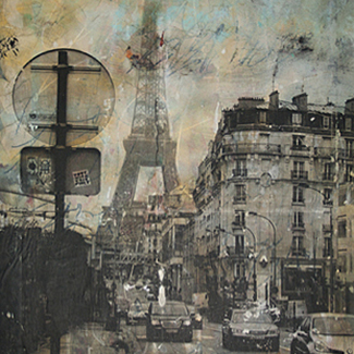 La Dame de Fer mixed media painting
