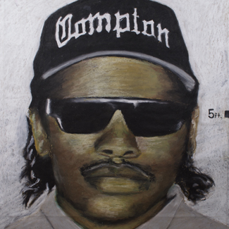 Eazy E mixed media portrait painting