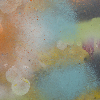 Hazy Sprays mixed media painting