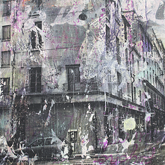 Paris Maubrais mixed media painting